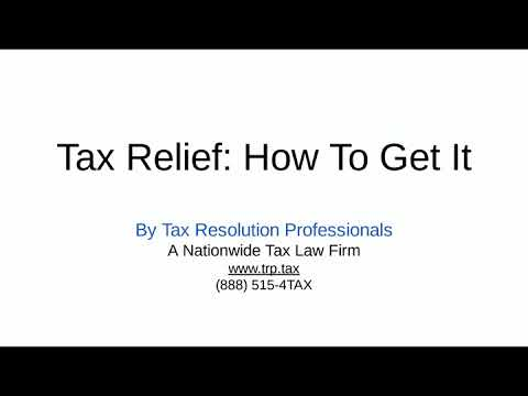 Tax Relief: How To Get It