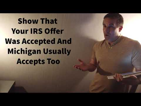 Michigan Offer In Compromise - Super Easy If Your IRS OIC Was Accepted