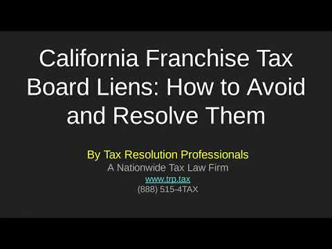 California FTB liens: How To Avoid and Resolve