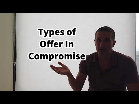 Types of Offer In Compromise Explained