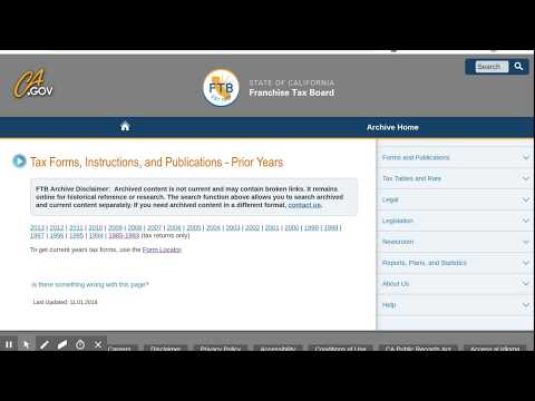 Old FTB Tax Forms: How To Get Prior Year Forms For California