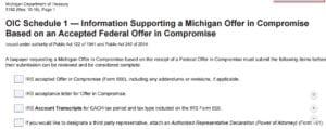 OIC Schedule 1 Michigan