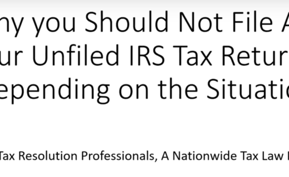 unfiled tax help