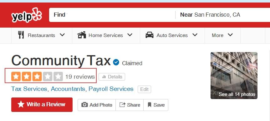 community tax reviews